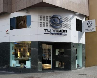 Fachada óptica Tu Visión en Ponferrada, León