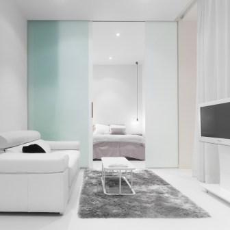 Habitación. Diseño interior de mini-apartamento en Madrid