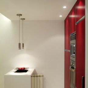 Diseño interior de piso en Galicia. Detalle barra de cocina