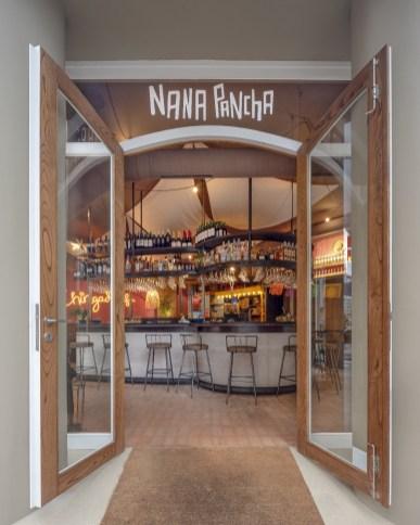 Entrada de Nana Pancha, restaurante mexicano en A Coruña-Galicia
