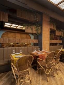 Mesas en La Hacienda de Nana Pancha, restaurante mexicano en A Coruña-Galicia
