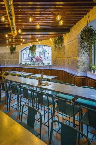 Sala en Diseño restaurante mexicano Tabaxco en Madrid