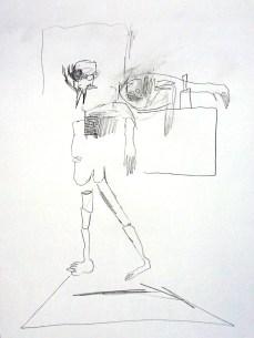 Esquisse personnage cubiste Ivan de Monbrison