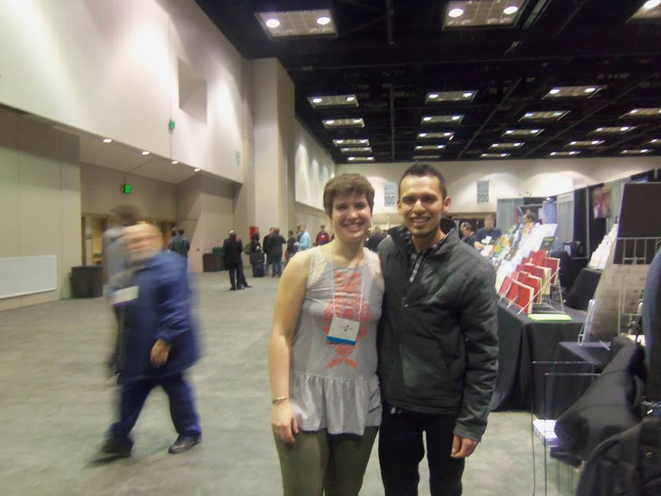 w/ Shannon Frier, who was a big help to me at the Mostly Marimba booth!