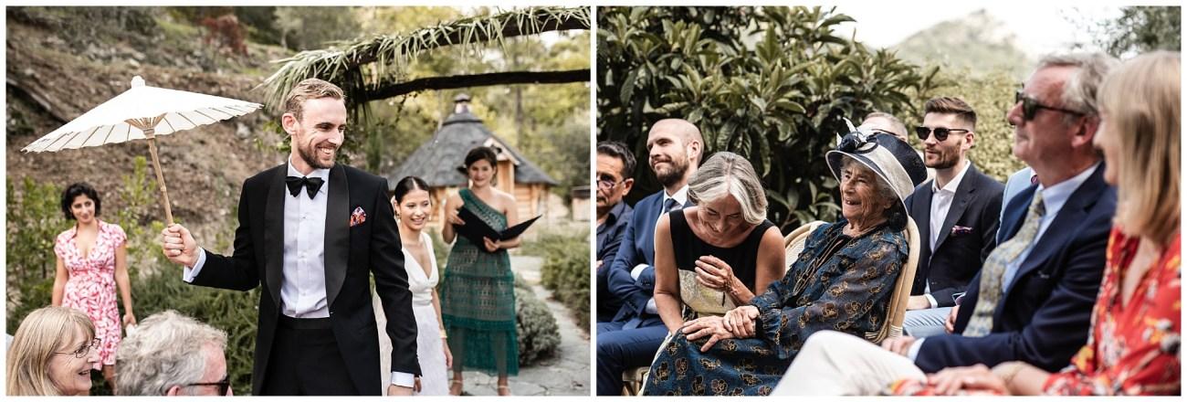 Un superbe mariage à la frontière italienne