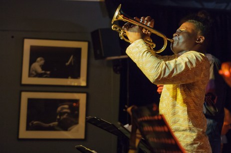 The Jo Kunnuji Experiment, with front-man Jo, performing at Straight No Chaser jazz club.