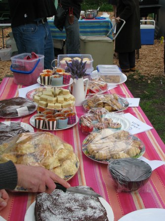 Afternoon tea prepared by members of the garden