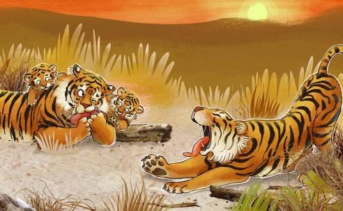De drollendraaier01 tijgers