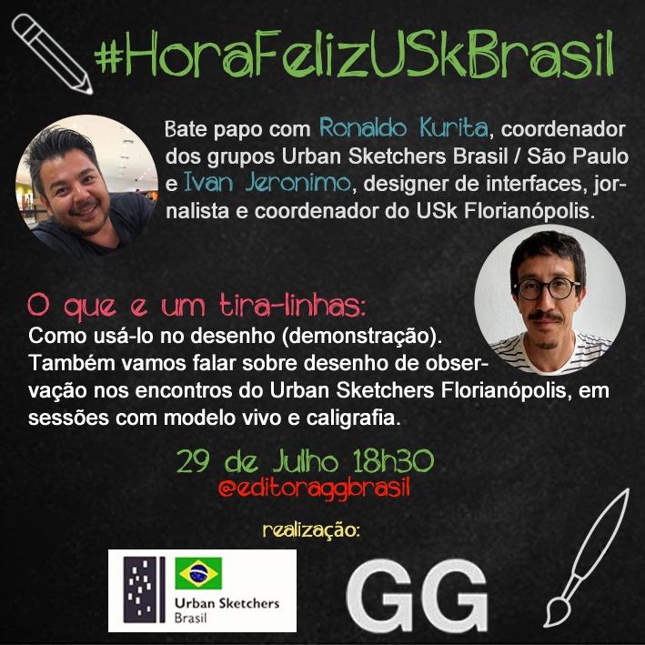 Banner da Hora Feliz USk Brasil com Ronaldo Kurita e Ivan Jerônimo