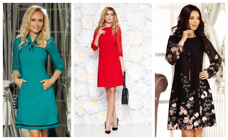 38 Modele de rochii in forma de A | Elegante, de ocazie, office si casual