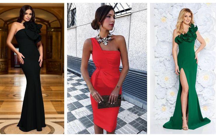modele-rochii-pe-un-umar-elegante-de-ocazie-de-seara-online