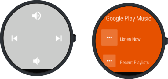 Android wear - play music