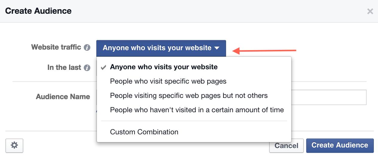 Create Custom Retargeting Audience