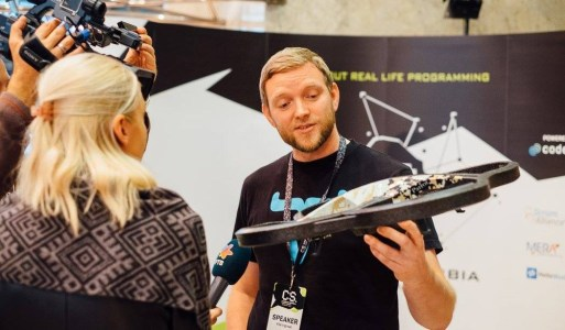 Ville Ingman with Parrot drone