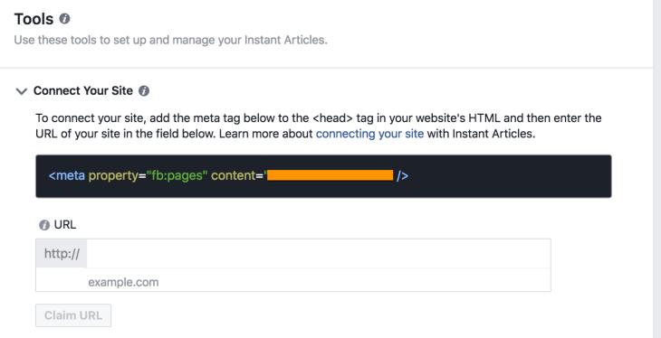 Meta tag claim