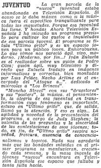 Crítica en ABC (26 de mayo de 1968)