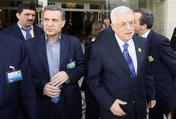 Nabil Abu Rudeina and Mahmud Abbas