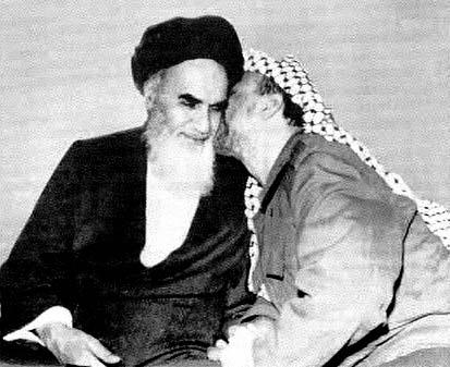 The kiss of death. Arafat adored his Master, Ayatollah Khomeini