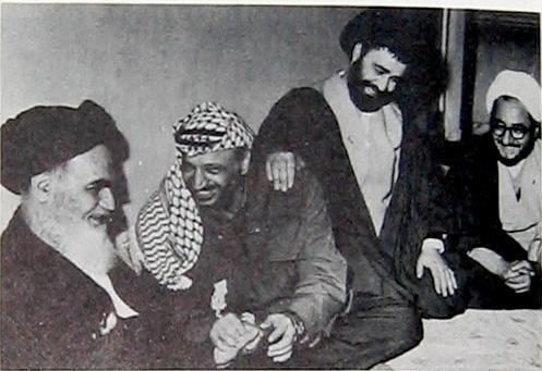 The Master and his servant. Arafat visits his spiritual leader Ayatollah Khomeini