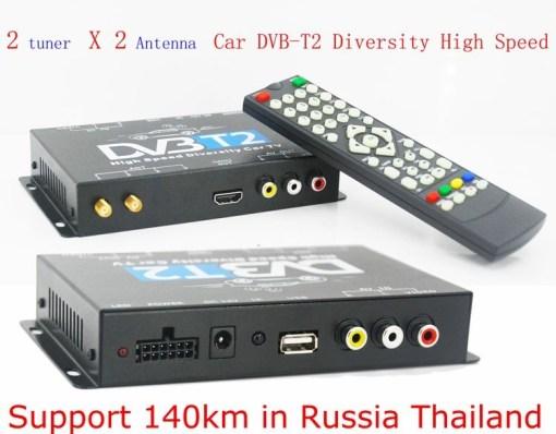 2 antenna car DVB-T2 Two tuner tv Diversity USB HDMI HDTV High Speed dvb-t22 7