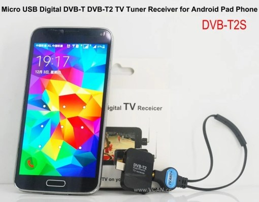 Mobile Phone DVB-T2 TV stick Tuner Receiver Micro USB for android pad digital 5