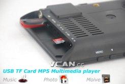 7 DVB-T2 7 inch Digital TV monitor Analog TV USB TF MP5 player AV in Rechargeable Battery 7