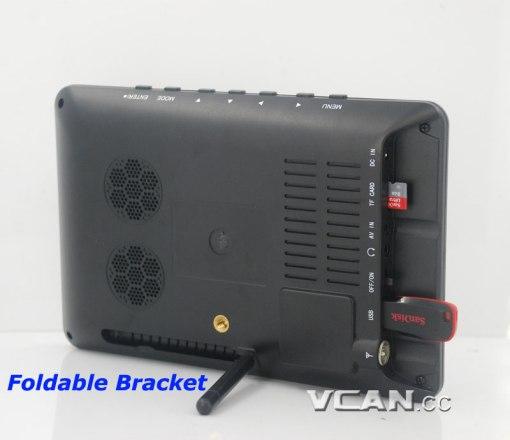 7 DVB-T2 7 inch Digital TV monitor Analog TV USB TF MP5 player AV in Rechargeable Battery 3