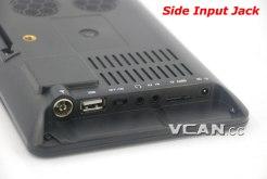 7 DVB-T2 7 inch Digital TV monitor Analog TV USB TF MP5 player AV in Rechargeable Battery 10