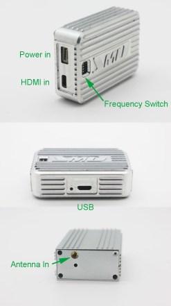 Cofdm wireless video transmitter modulator uav micro hdmi nols module HD-sdi receiver COFDM-901T 8