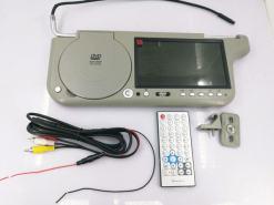 7 inch sun visor DVD player sunvisor left right side USB SD movie player black grey beige factory promotion TM-6686 7010 30