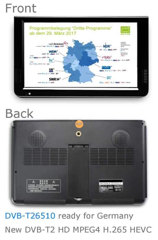 10 DVB-T2 H265 HEVC AC3 Codec Portable TV PVR Multimedia Player Analog kitchen bedroom car DVB-T26510 3