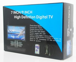 DVB-T29 9 inch portable DVB-T2 LCD TV monitor HD FTA Freenet H265 HEVC Codec 6