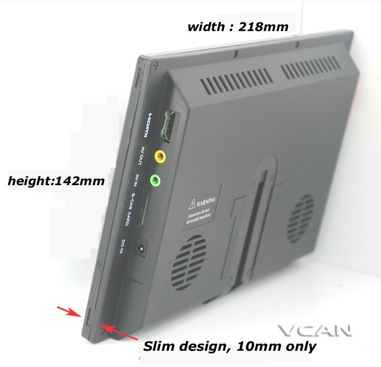 9 inch isdb-t full seg digital tv b-cas One tuner antenna FM transmitter ISDB-T9 10