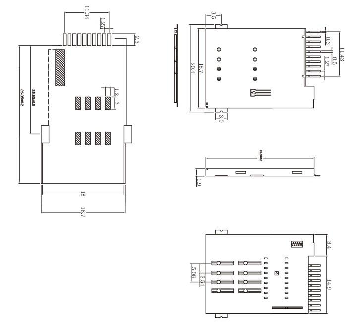 B-cas card reader for Japan ISDB-T