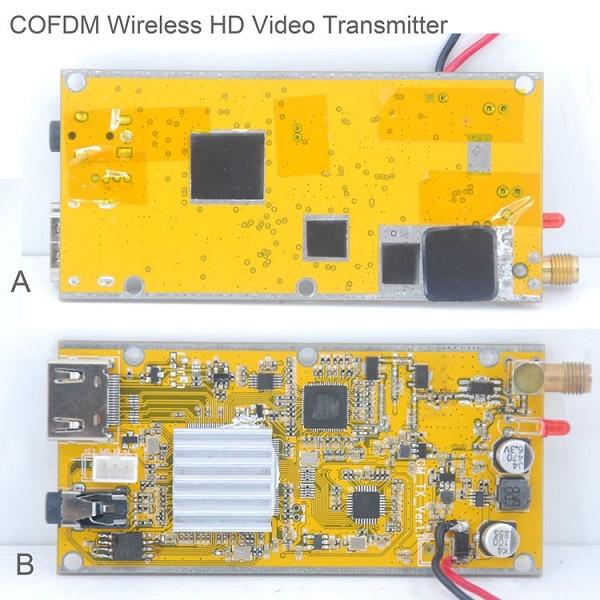 Cofdm wireless video transmitter modulator uav micro hdmi nols module HD-sdi receiver COFDM-901T 12