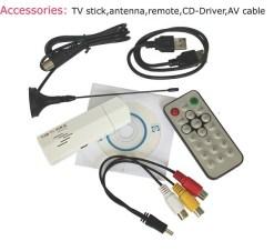VCAN1010 USB Analog TV stick for PC 1 MINI AV input with VCD/DVD Player 7