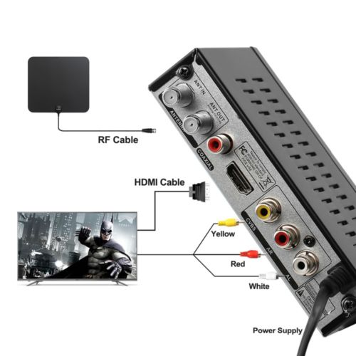 Mexico ATSC TV Receiver Digital TV MPEG4 HDMI USB PVR VCAN1078 for USA Canada 2