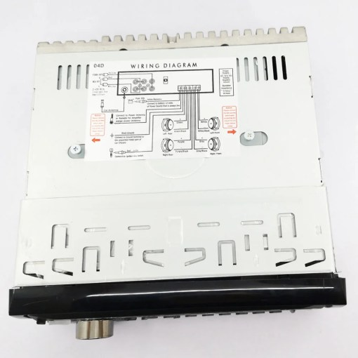 Vcan1236 1 Din Detachable front panel DVD CD MP3 MP4 USB player Car radio Amplifier 2