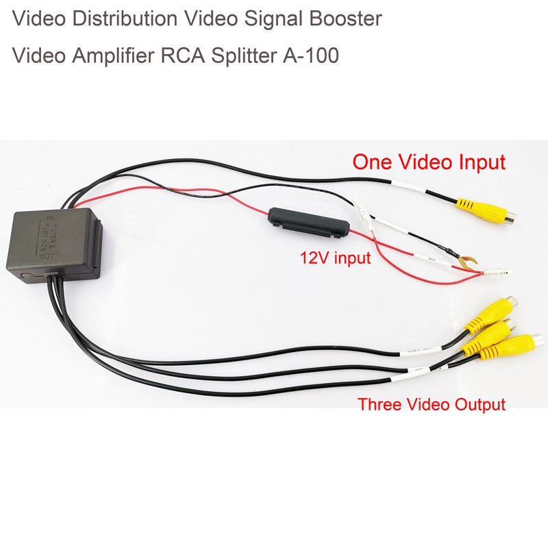 Video Distribution Video Signal Booster Video Amplifier for Car DVD Distribution RCA Splitter A-100 7