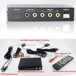 DVB-T2100HD Car DVB-T MPEG4 H.264 2 tuner Digital TV receiver 2 tuner 2 antenna 9