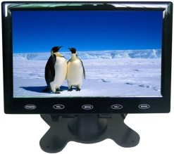 "7"" Car slim design Digital stand LCD Monitor 9"