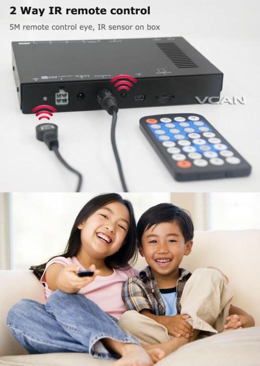 Car DVB-T digital tv receiver 2 antenna tuner TNT TDT 5