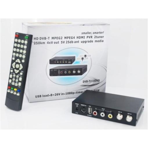 DVB-T2100HD Car DVB-T MPEG4 H.264 2 tuner Digital TV receiver 2 tuner 2 antenna 5