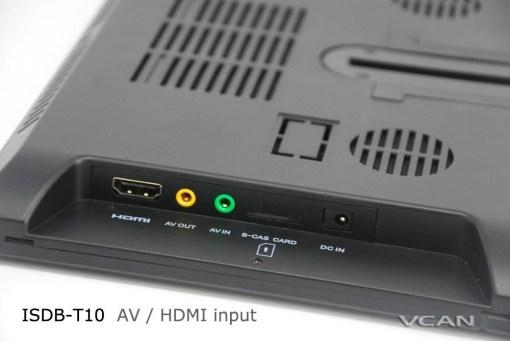 2 tuner 2 antenna isdb-t digital tv receiver 10.1 inch full segment digital TV receiver for Japan mini b-cas card reader high speed moving 9