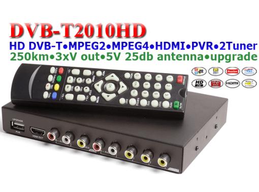 Car DVB-T Receiver MPEG4 H.264 2 tuner 2 diversity antenna Booster Recorder DVBT 6