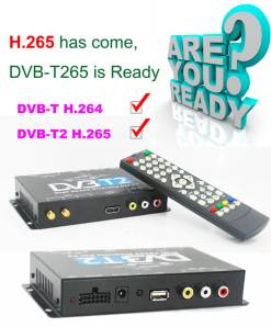 Germany DVB-T2 H265 HEVC 2017 New Model DVB-T265 automobile digital car dvb-t2 tv receiver 13