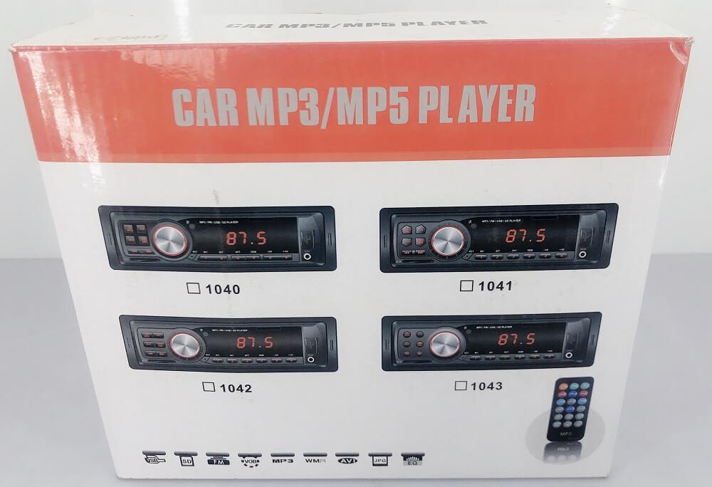 In dash One din Car USB SD MP3 player FM radio AUX audio input 1