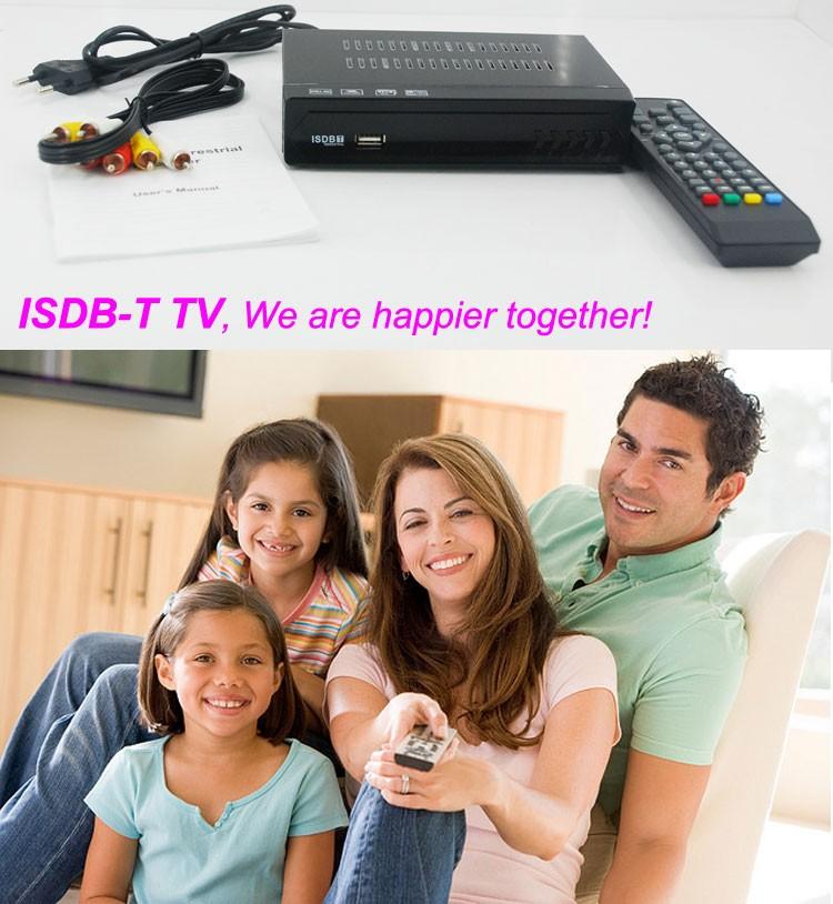 VCAN1047 Home ISDB-T Digital TV Receiver TV Plus black box MPEG4 HDMI USB PVR Remote 8