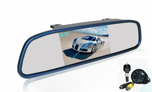 """REARVIEW MIRROR WITH 4.3"""" TFT AND CAMERA VCAN1432 1"""