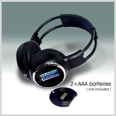 WL-2008 car wireless IR stereo TV headphone infrared headset 4